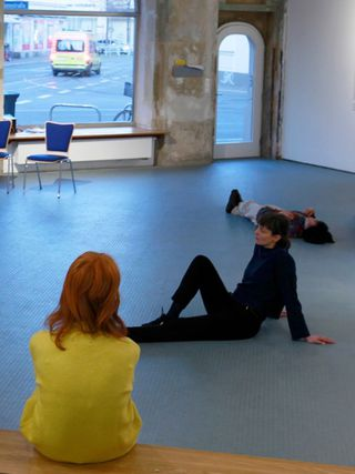 """It's not a Problem"", performance initiated by Angelika Waniek and Ilse Riediger, Kunstraum D21, Leipzig, January 2020"
